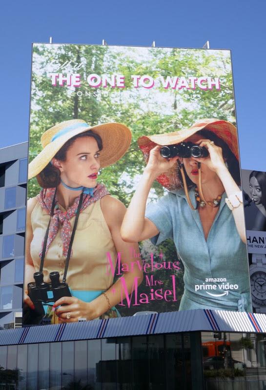 Marvelous Mrs Maisel season 2 Emmy billboard