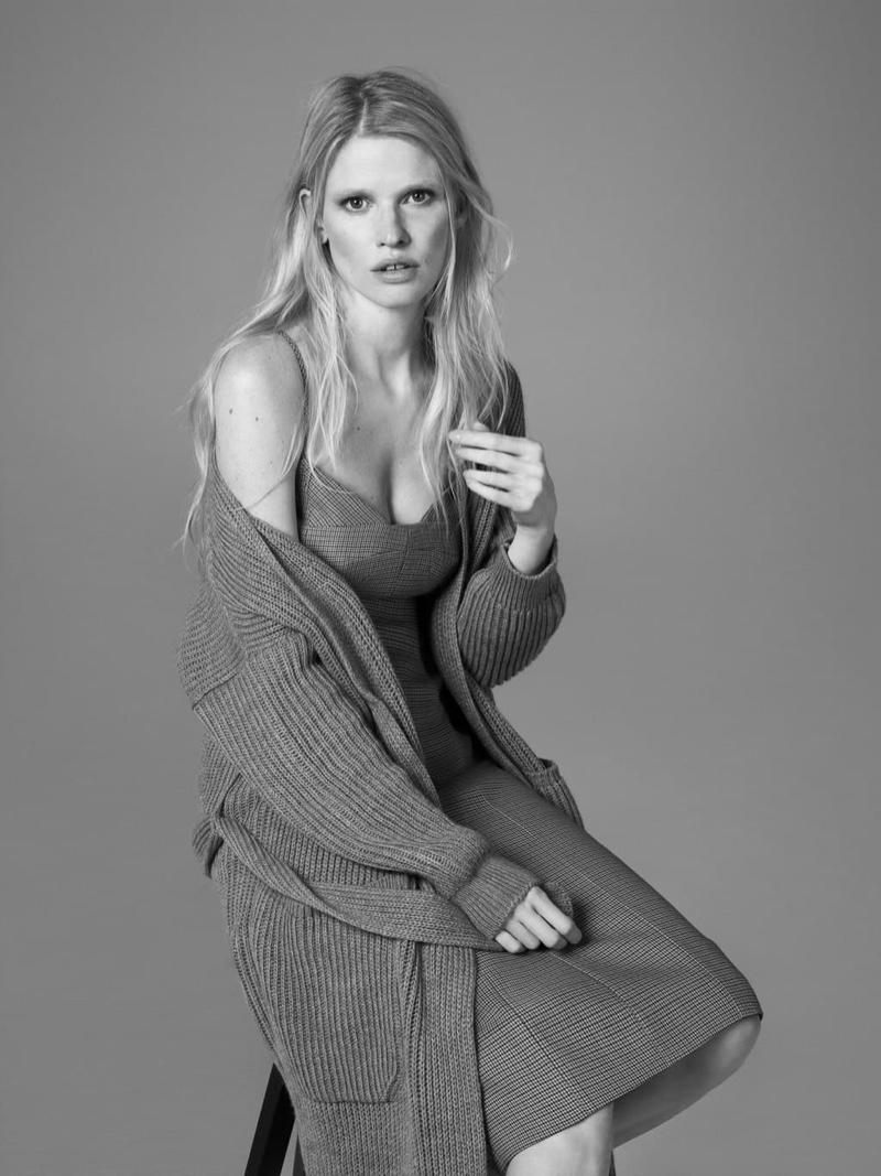 Lara Stone Poses for Alessandro Dell'Acqua x Elena Mirò Campaign