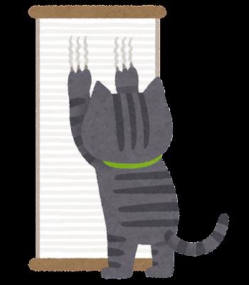 猫の爪とぎのイラスト