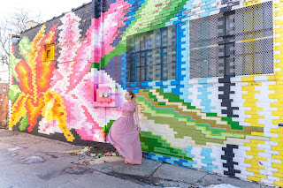 Floral wall mural Chicago