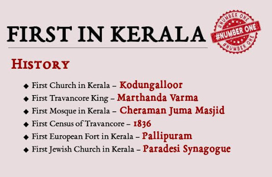 First in Kerala - History