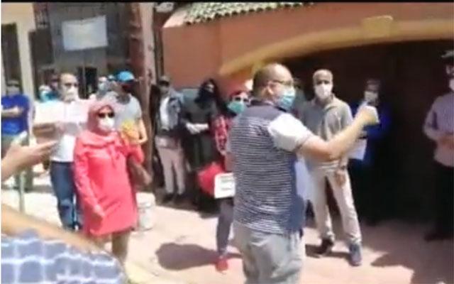 مراكش : وقفة احتجاجية تصعيدية لآباء وأمهات تلاميذ مدرسة خصوصية لهذا السبب