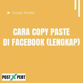 Cara Copy Paste Status, Komentar dan Tautan di Facebook Lewat HP
