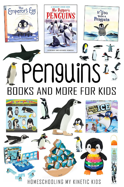Learn about Penguins with these great books and learning toys!