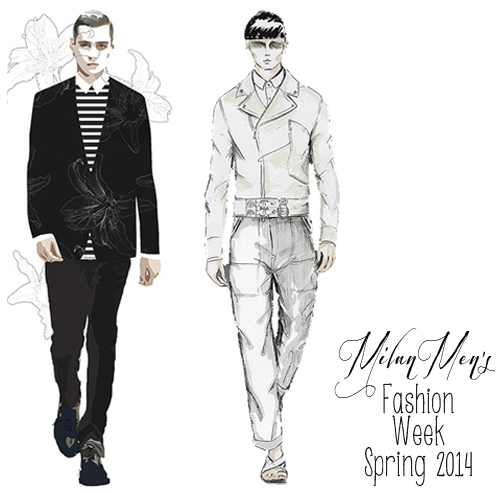 Fabulous Doodles Fashion Illustration Blog By Brooke Hagel Male Fashion Illustrations Milan Fashion Week Spring 2014