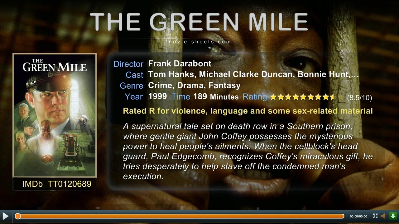 Dvd Movies Streaming The Green Mile 1999 Live Streaming