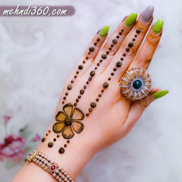Raksha Bandhan Mehndi Design Back Hand