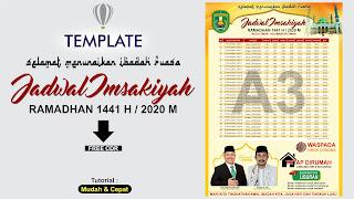 Template Jadwal Imsakiyah Ramadhan 1441 H / 2020