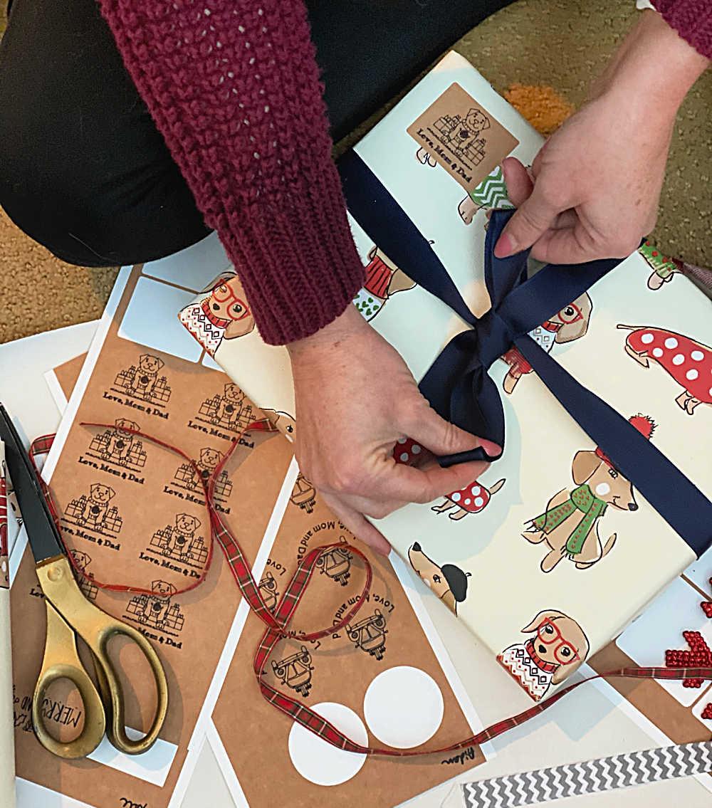 personalized gift labels cricut joy