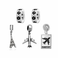 kit berloque prata 925