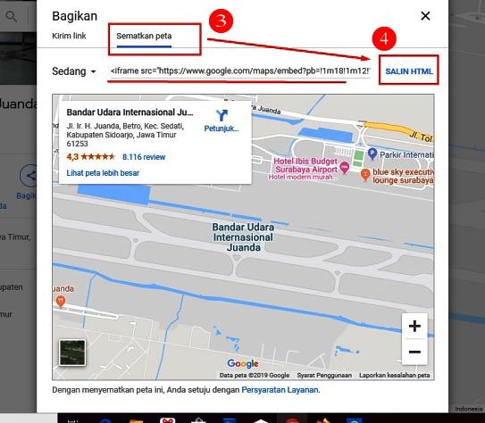 peta google map