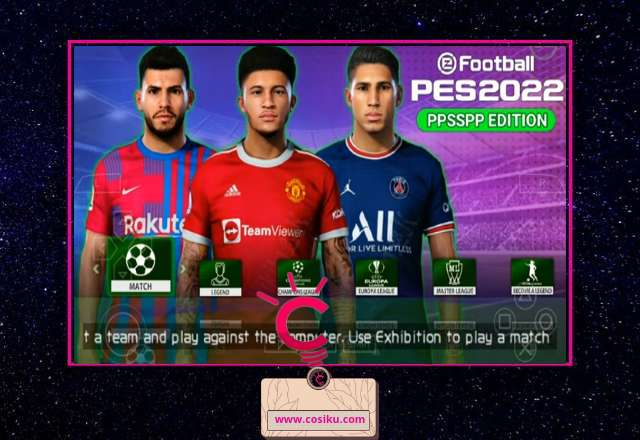 PES 2021-2022 Lite Edition 300MB Ppsspp New Update Jersey & Transfer Pemain