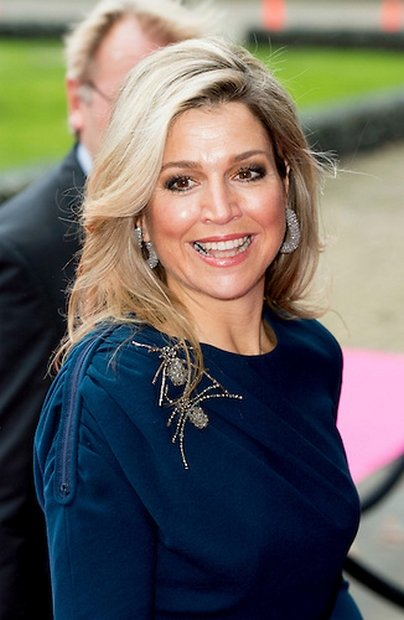 Queen Maxima of The Netherlands attended the closing session of Power on Tour in the Fokker Terminal in The Hague