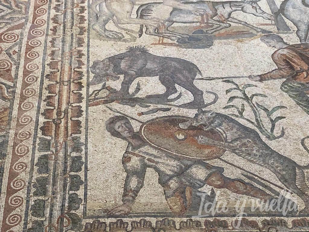 Villa Romana de La Olmeda, mosaico de la caza