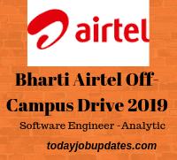 Bharti Airtel Off-Campus Drive 2019
