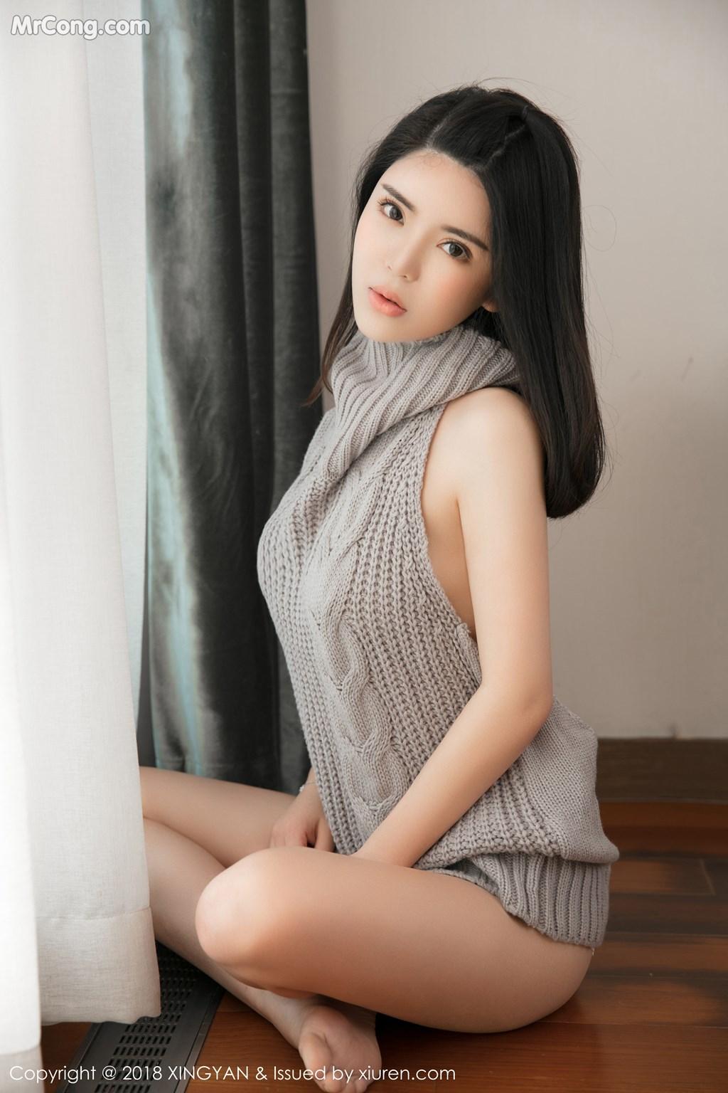 Image XingYan-Vol.012-Lily-MrCong.com-009 in post XingYan Vol.012: Người mẫu 陈曦Lily (51 ảnh)