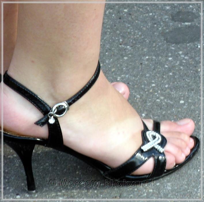 Black summer high heels shoes