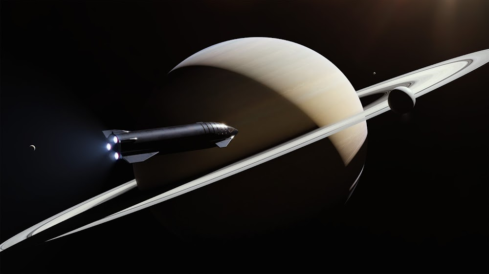 SpaceX's Starship at Saturn
