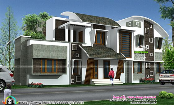 Modern contemporary home elevation