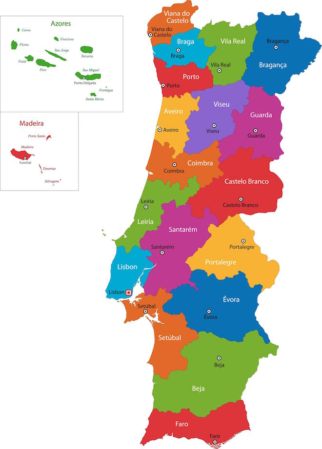Portuguese Wine Regions And History Grapes Grains - Portugal map history