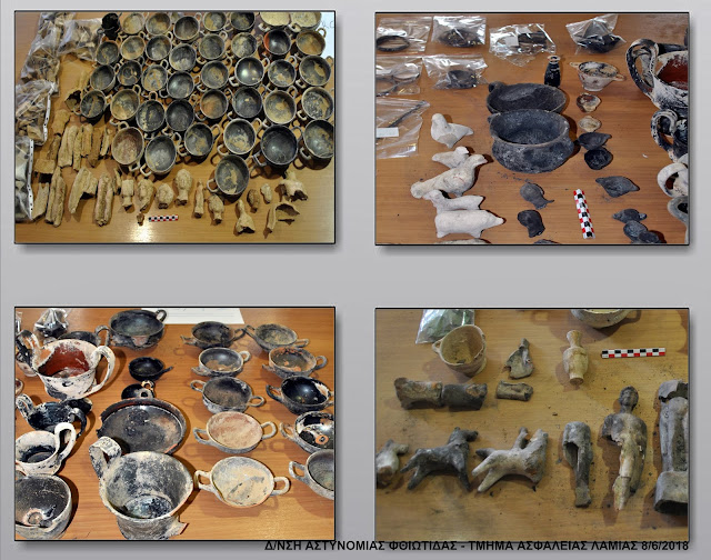 Greek wildfire reveals hoard of plundered antiquities