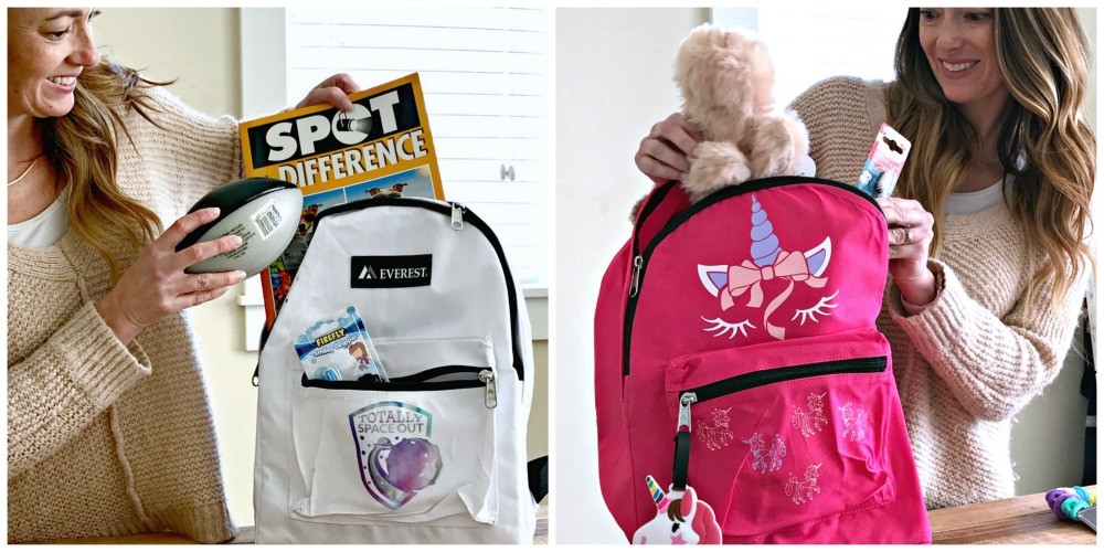 handmade backpacks for kids in foster care using the cricut cutting machine