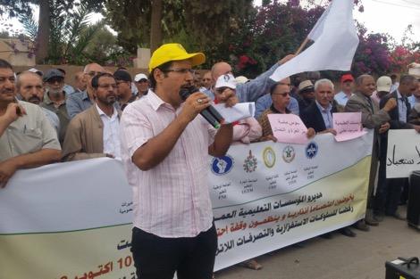 الإثنين المقبل .. مديرو المؤسسات التعليمية يصعدون ضد أمزازي ويخوضون إضرابا وطنيا