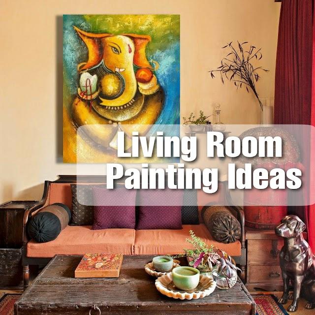 Living Room Painting Ideas : Beautiful Ganesha Acrylic Paintings on Canvas