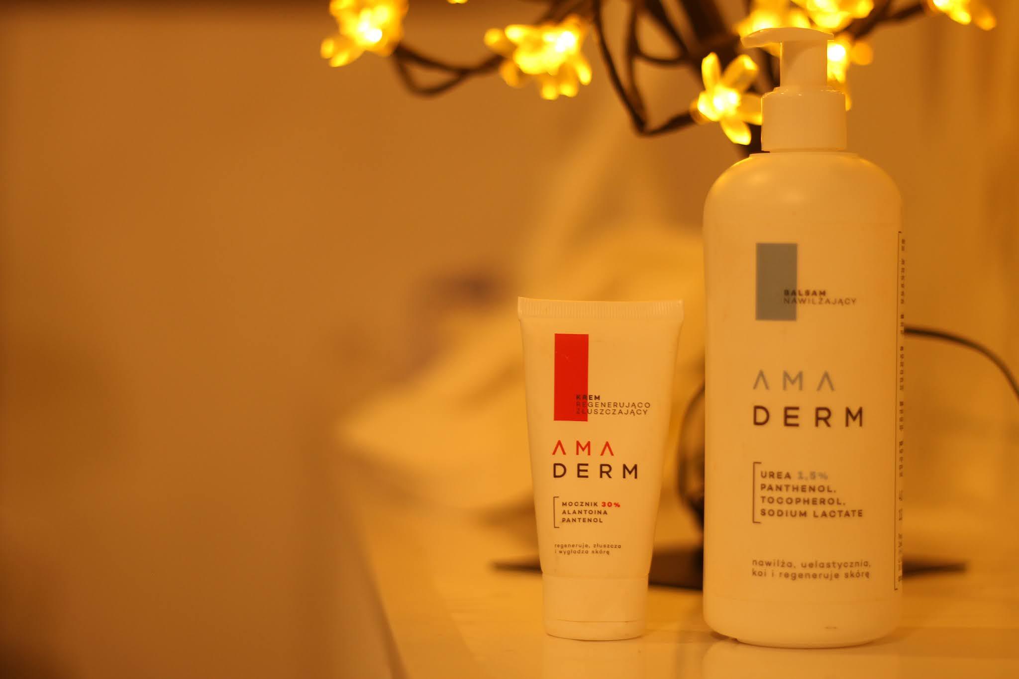 Pielęgnacja dla atopowej, wrażliwej, alergicznej i łuszczącej się skóry ciała - specjalistyczne kosmetyki Amaderm