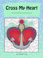 cross my heart coloring journal by Jenny Luan Amazon