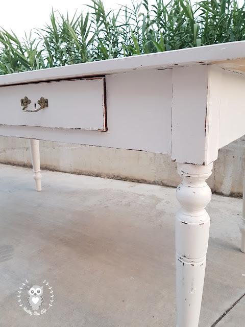 tavolo, shabby chic, decora facile, fai da te, diy, cucina, casa, prima e dopo, chalk paint