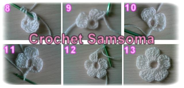 كروشيه وردة بسيطة بلون واحد . طريقة عمل وردة بسيطة من الكروشيه. درس عمل وردة بسيطة بالكروشيه. . تعلم الكروشيه . دروس تعلم الكروشيه . crochet