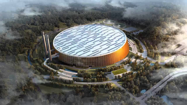 Shenzhen (China), the world's largest waste-to-energy plant