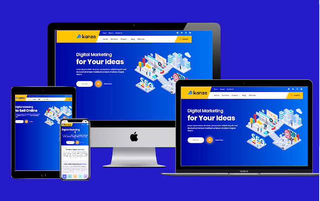 Download Akanza Clone Landing Page Responsive Blogger Template