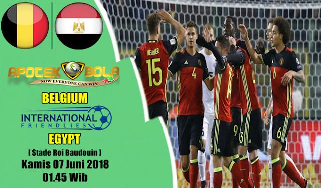 Prediksi Belgium vs Egypt 7 Juni 2018