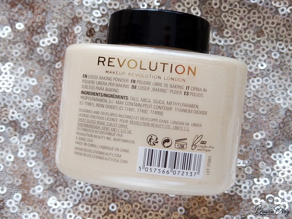 puder do bakingu Makeup Revolution Loose Baking Powder Banana