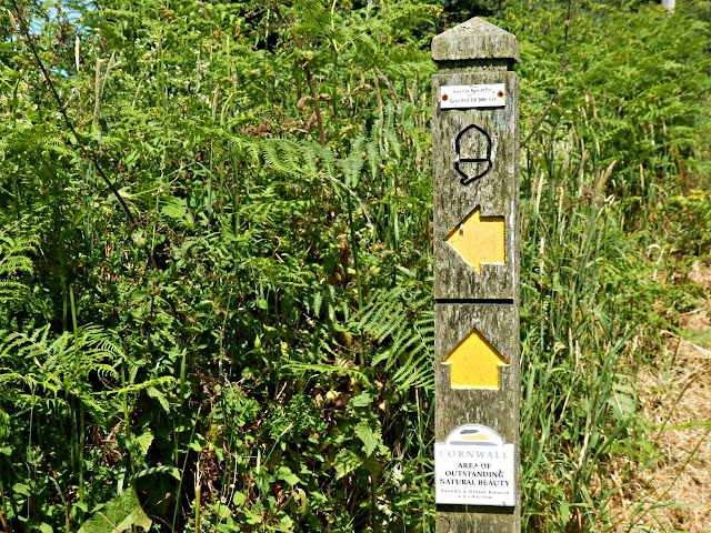 Sign Post showing dircetions of coastal path, Cornwall