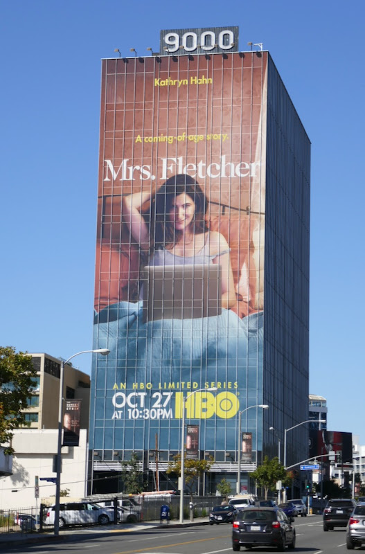 Giant Mrs Fletcher series premiere billboard
