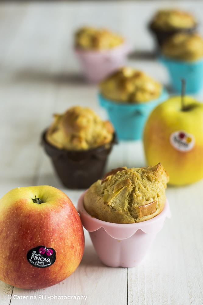 Muffin alle mele gialle e rosse Val Venosta   ricetta light senza burro