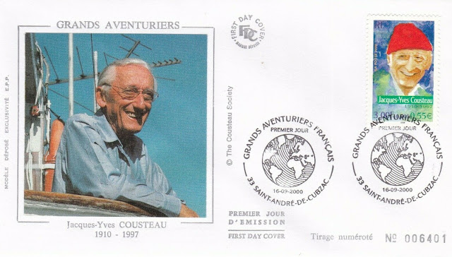 France 2000 Jacques Cousteau FDC