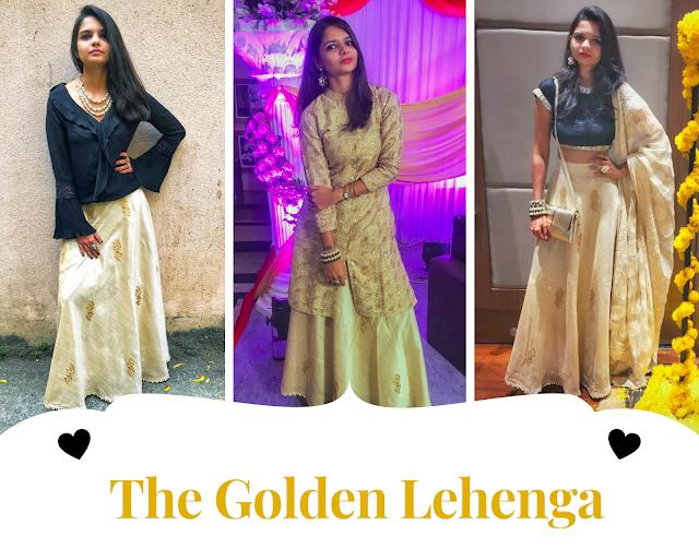 Golden Lehenga, Wedding Outfit, OOTD, Traditional