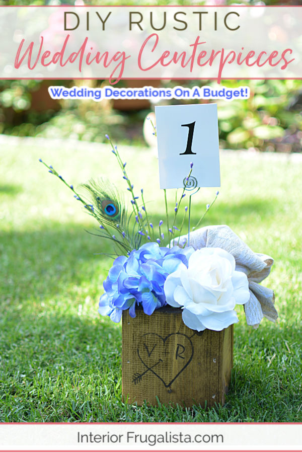 How to make simple and adorable rustic wooden carved love heart wedding centerpiece boxes, a DIY budget wedding decor idea with country-style charm. #diyweddingcenterpieces #diyweddingdecorations #rusticweddingdecor #budgetweddingcenterpieces