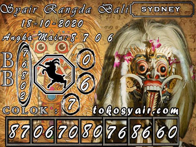 Kode syair Sydney Minggu 18 Oktober 2020 154
