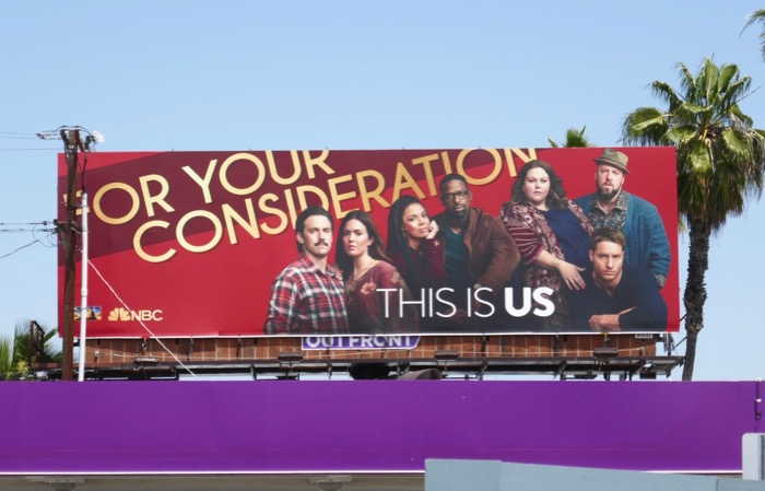 This Is Us season 3 Emmy consideration billboard