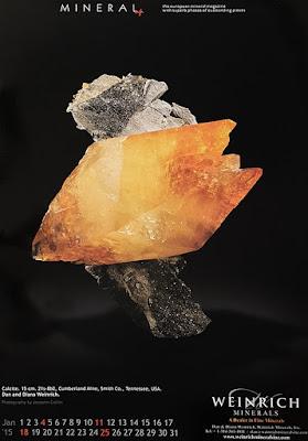 Mineral, calendario, calcita