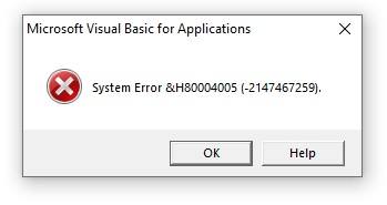 Second error message