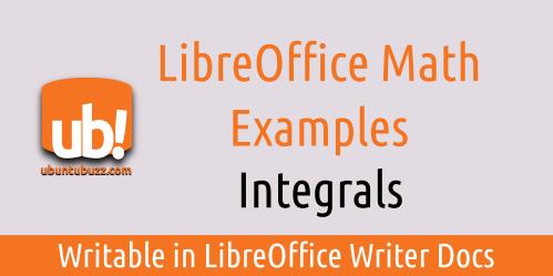 Ubuntu Buzz !: LibreOffice Math: Integral Formula Examples