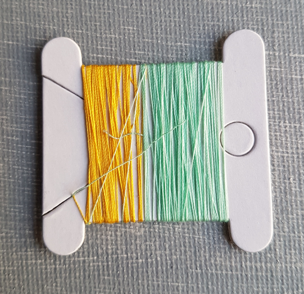 thread stored on embroidery floss holder | DevotedQuilter.com