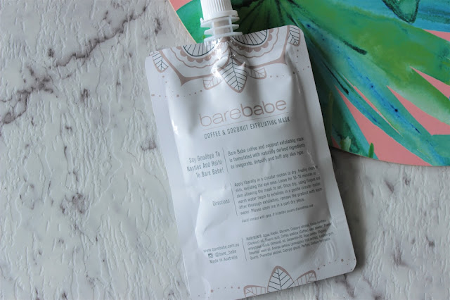 Bare Babe Coffee & Coconut Exfoliating Mask Review