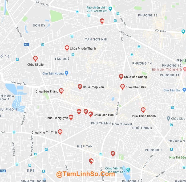 Ở Tân Phú có gần 20 ngôi chùa, rất đẹp và thanh tịnh